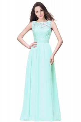 ELYSE   A-line Sleeveless Crew Floor-length Lace Top Chiffon Prom Dresses_8