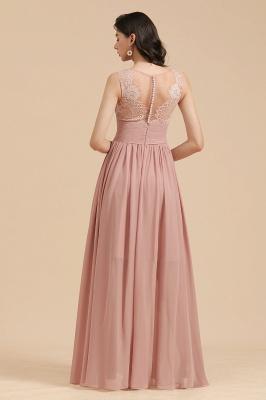 Elegant Sleevele Dusty Pink Chiffon Bridesmaid Dresses_3