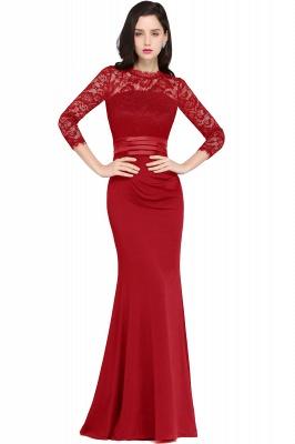 ARIANNA | Sheath High Neck Black Elegant Evening Dresses with Lace_1
