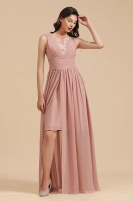 Elegant Sleevele Dusty Pink Chiffon Bridesmaid Dresses_5
