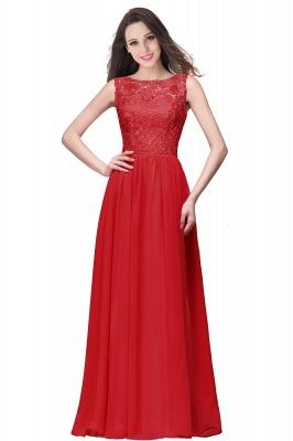 ELYSE   A-line Sleeveless Crew Floor-length Lace Top Chiffon Prom Dresses_1