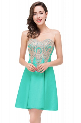 Cheap Short Applique Sleeveless Prom Homecoming Dress in Stock_4