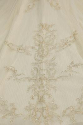 Gorgeous Off-the-Shoulder Ivory Wedding Dresses Floral Appliques Ball Gown Bridal Dress_7