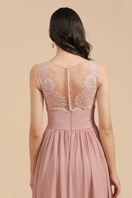 Elegant Sleevele Dusty Pink Chiffon Bridesmaid Dresses_10