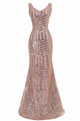Cheap Elegant Mermaid Prom Dress Beaded Backless Evening Dress in Stock_3