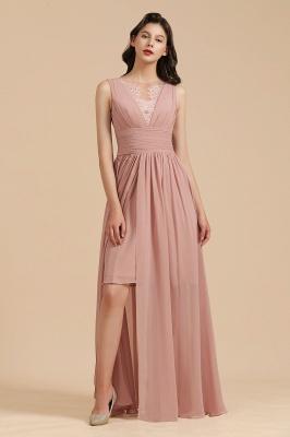 Elegant Sleevele Dusty Pink Chiffon Bridesmaid Dresses_6
