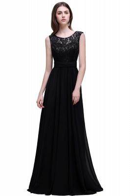 Sleeveless Lace Long Chiffon Prom Dress Online_5