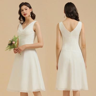 Classic V-Neck Sleeveless Knee Length Chiffon Bridesmaid Dresses_10