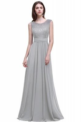 Sleeveless Lace Long Chiffon Prom Dress Online_6