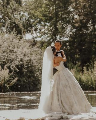 Luxury sweetheart wedding dress A line Wedding dresses lace_2