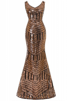 Cheap Elegant Mermaid Prom Dress Beaded Backless Evening Dress in Stock_2