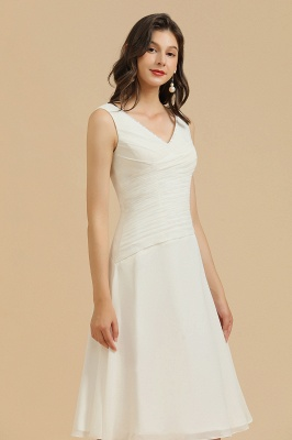 Classic V-Neck Sleeveless Knee Length Chiffon Bridesmaid Dresses_6