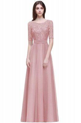 Cheap Half-Sleeve Lace Long Chiffon Evening Dress in Stock_3