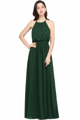 Dark Navy Halter Chiffon Sleeveless Bridesmaid Dresses   Cheap Wedding Guest Dresses_9