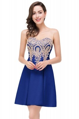 Cheap Short Applique Sleeveless Prom Homecoming Dress in Stock_2