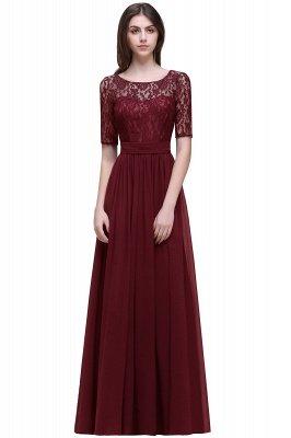 Cheap Half-Sleeve Lace Long Chiffon Evening Dress in Stock_4