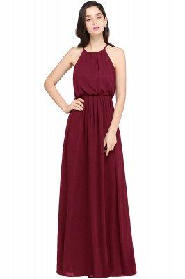 Dark Navy Halter Chiffon Sleeveless Bridesmaid Dresses   Cheap Wedding Guest Dresses_2