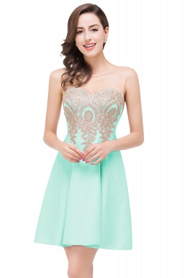 Cheap Short Applique Sleeveless Prom Homecoming Dress in Stock_5