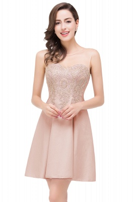 Cheap Short Applique Sleeveless Prom Homecoming Dress in Stock_1