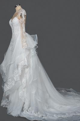 Long Sleeves Lace Ruffles Fairy Wedding Dresses Floor-length_8