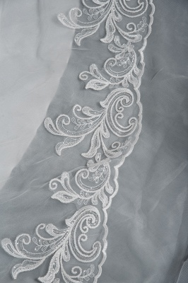 Long Sleeves Lace Ruffles Fairy Wedding Dresses Floor-length_5