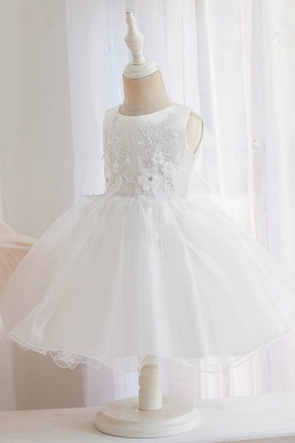 Sweet Jewel Tulle Flower Girls Dresses With Appliques_6