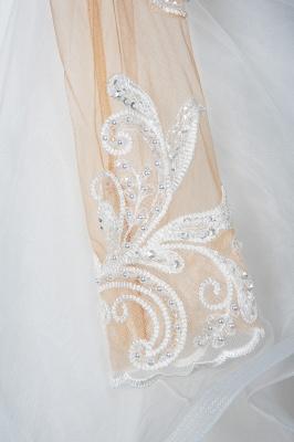 Long Sleeves Lace Ruffles Fairy Wedding Dresses Floor-length_7