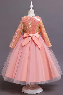 Princess Long Sleeves Sequins Flower Girls Dresses Ankle-Length_6