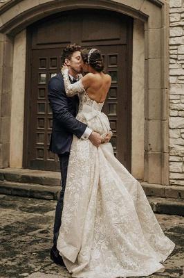 Gorgeous Tulle Bateau Wedding Dresses With Lace Appliques_2