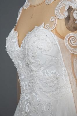 Long Sleeves Lace Ruffles Fairy Wedding Dresses Floor-length_6
