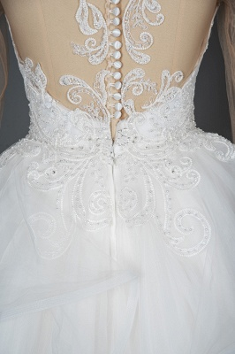 Long Sleeves Lace Ruffles Fairy Wedding Dresses Floor-length_14