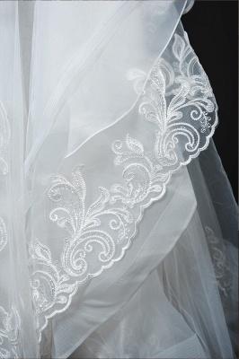 Long Sleeves Lace Ruffles Fairy Wedding Dresses Floor-length_16