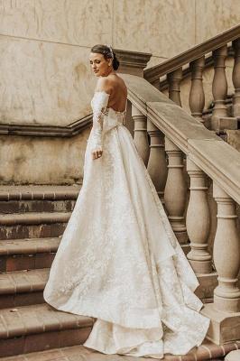 Gorgeous Tulle Bateau Wedding Dresses With Lace Appliques_3