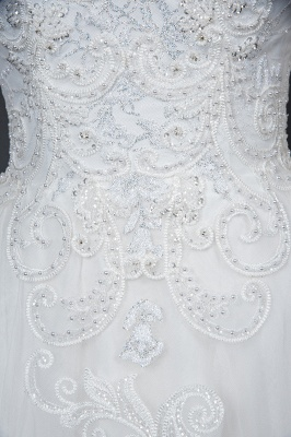 Long Sleeves Lace Ruffles Fairy Wedding Dresses Floor-length_10