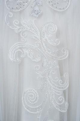 Long Sleeves Lace Ruffles Fairy Wedding Dresses Floor-length_9