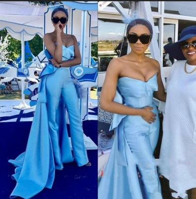 Vintage Sweetheart Satin Ruffles Blue Homecoming Dresses_3