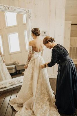 Gorgeous Tulle Bateau Wedding Dresses With Lace Appliques_5