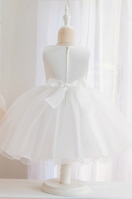 Sweet Jewel Tulle Flower Girls Dresses With Appliques_7