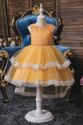 Sweet Sleeveless Ruffles Flower Girls Dresses Ball Gown_3