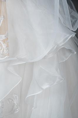 Long Sleeves Lace Ruffles Fairy Wedding Dresses Floor-length_4