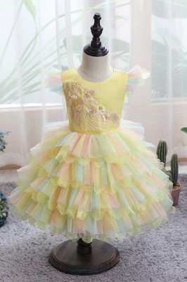 Cute Jewel Multiple Color Flower Girls Dresses Ball Gown