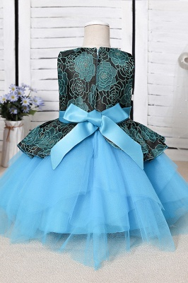 Cute Jewel Polyester Sleeveless Flower Girls Dresses With Bowknot_6