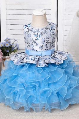 Jewel Sleeveless Print Flower Girls Dresses Ball Gown_10