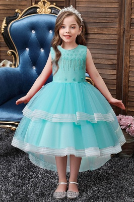 Sweet Sleeveless Ruffles Flower Girls Dresses Ball Gown