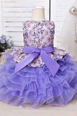 Jewel Sleeveless Print Flower Girls Dresses Ball Gown_6
