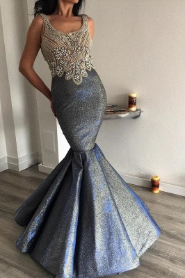 Stunning Royal Blue Bronzing Ruffles Prom Dresses Mermaid