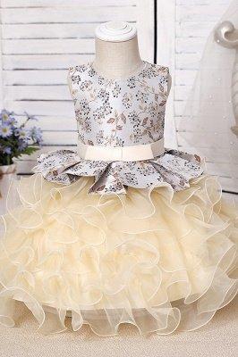 Jewel Sleeveless Print Flower Girls Dresses Ball Gown_9