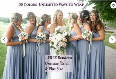 Sleeveless V Neck Satin Ruffles A-Line Bridesmaid Dresses_4