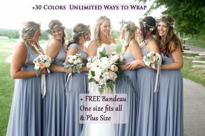 Gorgeous Sleeveless Light Blue Ruffles A-Line Bridesmaid Dresses_3