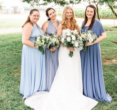 Gorgeous Sleeveless Light Blue Ruffles A-Line Bridesmaid Dresses_6